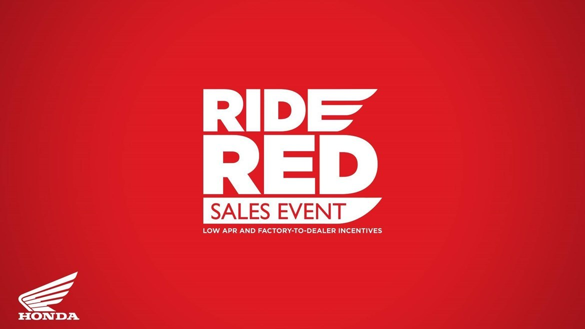 Honda Ride Red Sales Event